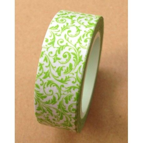 Washi flores 15mmx10mts